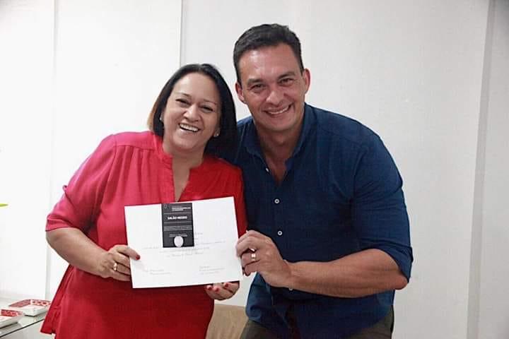 Governadora Fátima Bezerra recebe visita do senador Styvenson ...